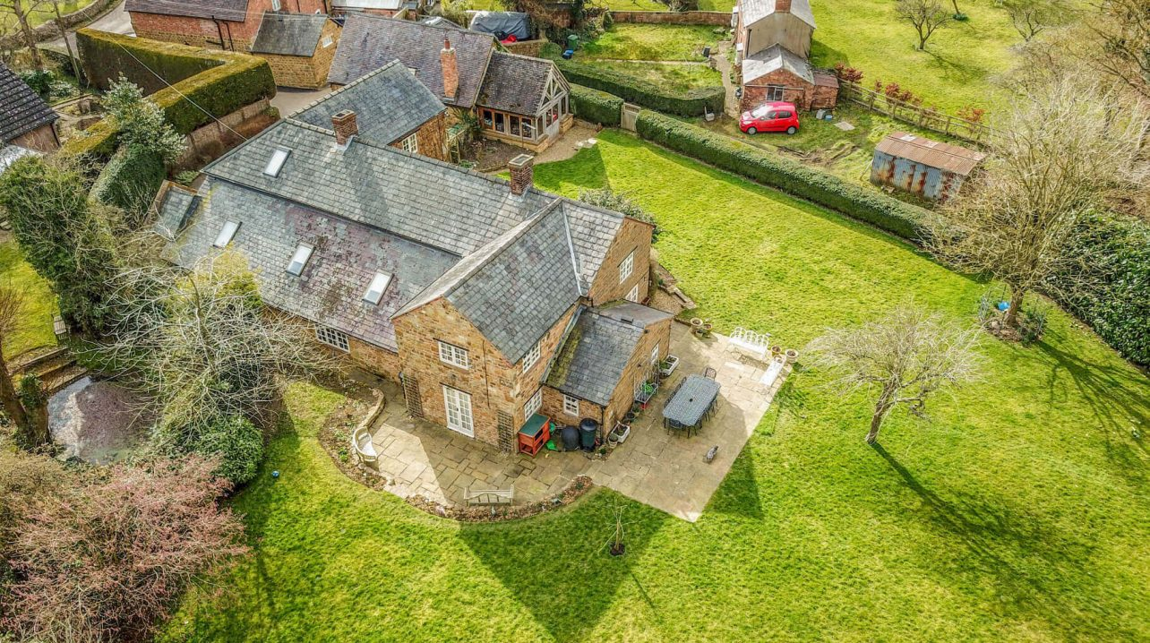 Drone Aerial Picture of Large House